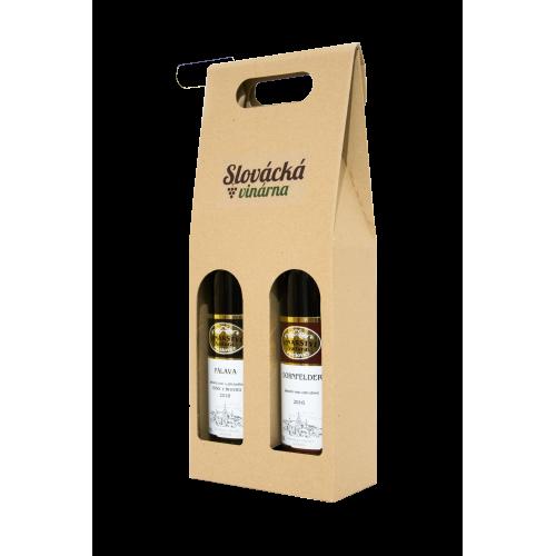 Papírový karton - 2 láhve